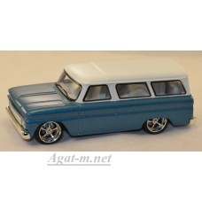 86059-GRL CHEVROLET Suburban 1966 Blue with White Roof