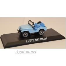 86310-GRL JEEP CJ-5 4х4 Elvis Presley 1954 Sierra Blue