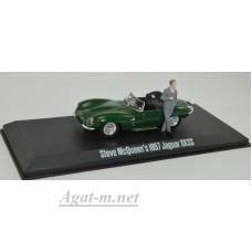 86434-GRL JAGUAR XKSS с фигуркой Steve McQueen 1957