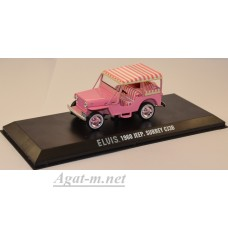 "86472-GRL JEEP Surrey CJ3B Elvis Presley ""Pink Jeep"" 1960"
