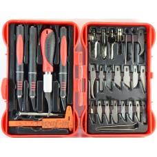 4009-ДЖЗ Набор ножей с цанговым зажимом (алюминий), 33 предмета