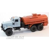 32008-КРЗ КрАЗ-255 автоцистерна, серый/оранжевый