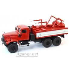 КрАЗ-255 химическая дезактивация транспорта ХДТ-3, красный