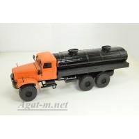 32019-КРЗ КрАЗ-255 автоцистерна мазутовоз оранжевый/черный
