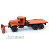 33002-КРЗ КрАЗ-255 платформа снегоуборочный, оранжевый