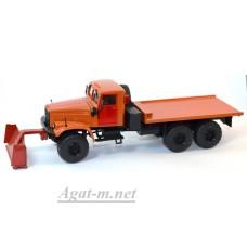 КрАЗ-255 платформа снегоуборочный, оранжевый