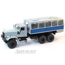 КрАЗ-255 автобусы вахтовые, серый/синий