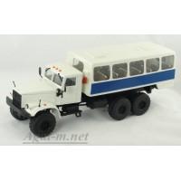 34010-КРЗ КрАЗ-255 автобусы вахтовые, белый/синий