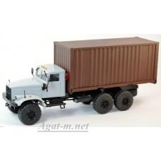 КрАЗ-255 контейнеровоз, серый/коричневый