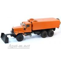 34020-КРЗ КрАЗ-255 аварийный водопроводный со скребком, оранжевый