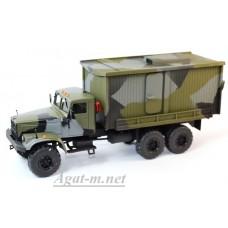 34022-КРЗ КрАЗ-255 Геологоразведочный, камуфляж хаки
