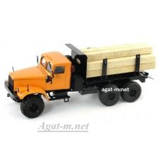 КрАЗ-255 с пиломатериалами, оранжевый
