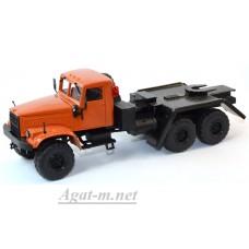 КрАЗ-255 платформоседельный тягач,оранжевый
