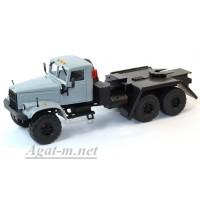 36019-КРЗ КрАЗ-255 платформоседельный тягач, серый