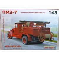 43007-ЛМК Сборная модель ПМЗ-7 пожарная автоцистерна 1944г.