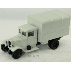 002-02-ЛОМ ЗИС-5 грузовик бортовой с тентом белый