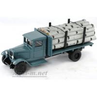 146-ЛОМ ЗИС-12 грузовик для перевозки леса, береза