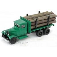 148-ЛОМ ЗИС-5 грузовик для перевозки леса с третьей подкатной осью,6Х4