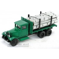 149-ЛОМ ЗИС-5 грузовик для перевозки леса с третьей подкатной осью,6Х4, береза
