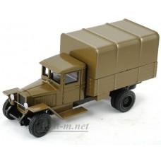 200-ЛОМ ЗИС-5 грузовик бортовой с тентом военный, хаки