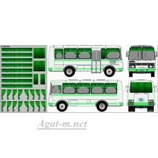 0164DKM-МПФ Набор декалей Шторки для Павловский автобус, зеленый (100х140)