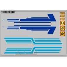 0364DKM-МПФ Набор декалей КАВЗ (полосы, надписи), вариант 9 (100х140)