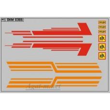 0365DKM-МПФ Набор декалей КАВЗ (полосы, надписи), вариант 10 (100х140)