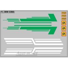0366DKM-МПФ Набор декалей КАВЗ (полосы, надписи), вариант 11 (100х140)