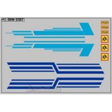 0367DKM-МПФ Набор декалей КАВЗ (полосы, надписи), вариант 12 (100х140)