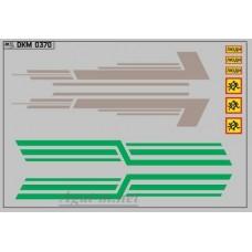 0370DKM-МПФ Набор декалей КАВЗ (полосы, надписи), вариант 15 (100х140)