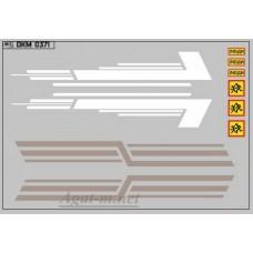 0371DKM-МПФ Набор декалей КАВЗ (полосы, надписи), вариант 16 (100х140)