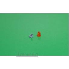 """Проблесковый маяк FER DDR """"капля"""" со вставкой оранжевый, 1шт."""