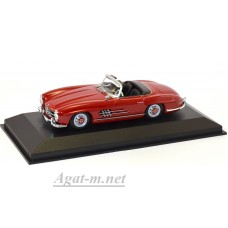 940 039031-МЧ MERCEDES-BENZ 300 SL ROADSTER (W198 II) 1955-DARK RED