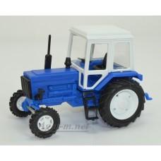 Масштабная модель Трактор МТЗ-82 пластик, синий