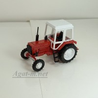 160102-МЛП Трактор МТЗ-82 металл с пластмассовой кабиной, красный