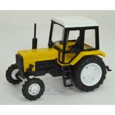 160112-МЛП Трактор МТЗ-82 Люкс пластик, двух цветный желто-черный/белый