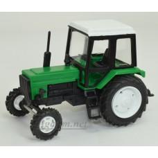 160113-МЛП Трактор МТЗ-82 Люкс пластик, двух цветный зелено-черный/белый