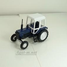 160210-МЛП Трактор МТЗ-82 металл-пластик, синий