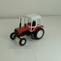 160211-МЛП Трактор МТЗ-82 металл-пластик, красный