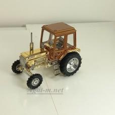 160297-МЛП Трактор МТЗ-82 корпус и кабина металл (крыша оранжевый металлик, корпус золото)