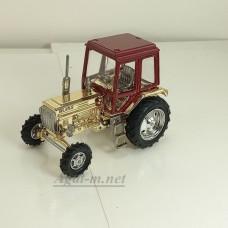 160298-МЛП Трактор МТЗ-82 корпус и кабина металл (крыша красный металлик, корпус золото)