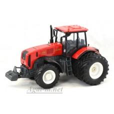 """160311-МЛП Трактор МТЗ-3522 """"МТЗ-ЕлАЗ 6-ти колесный металл, красный белые диски"""