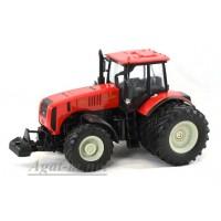 """160312-МЛП Трактор МТЗ-3522 """"МТЗ-ЕлАЗ 6-ти колесный металл, красный серые диски"""