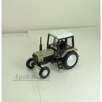 """160350-МЛП Трактор МТЗ-82 """"Люкс-2"""" (металл, золотой песок, с белой кабиной)"""