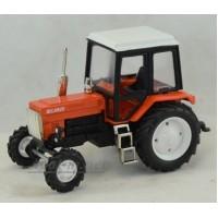 """160366-МЛП Трактор МТЗ-82 металл """"Люкс-2"""" оранжевый с белой кабиной"""