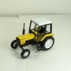 """160367-1-МЛП Трактор МТЗ-82 """"Люкс-2"""" металл (желтый с белой кабиной)"""