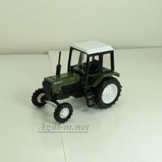 """160368-МЛП Трактор МТЗ-82 металл """"Люкс-2"""" зеленый с белой кабиной"""