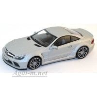 436 038220-МЧ MERCEDES SL65 AMG BLACK SERIES (R230) 2009г. MATT SILVER - 'LINEA OPACA'