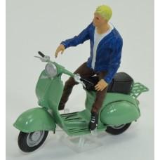 1motoartem-МС Мотоциклист Артем (для Воход-3М) коричневые штаны и синяя куртка