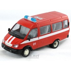 13761-САР Модель автобус пожарный косые фары
